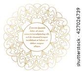 round frame gold color. border... | Shutterstock .eps vector #427026739