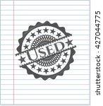 used pencil emblem   Shutterstock .eps vector #427044775
