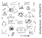 hand drawn business doodle set... | Shutterstock .eps vector #427046374