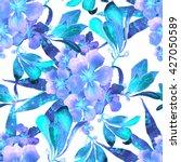 tropical flowers pattern.... | Shutterstock . vector #427050589