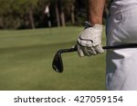 golf player hand and driver... | Shutterstock . vector #427059154
