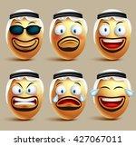 Vector Saudi Arab Man Egg Face...