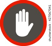 stop hand icon vector. stop...