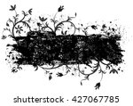 black vines frame textured... | Shutterstock .eps vector #427067785