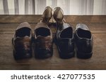 man and woman shoes light and...   Shutterstock . vector #427077535