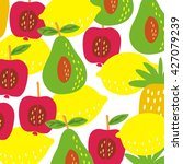 summer fruit pattern | Shutterstock .eps vector #427079239