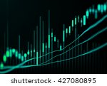 abstract candlestick chart and... | Shutterstock . vector #427080895