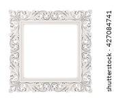 3d frame on white background | Shutterstock . vector #427084741