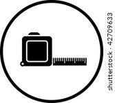 measuring tape symbol | Shutterstock . vector #42709633