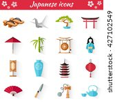 japanese set of icons in flat... | Shutterstock .eps vector #427102549