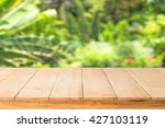 wooden table mock up interior... | Shutterstock . vector #427103119