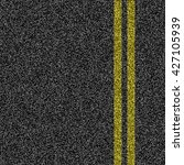 asphalt road with double yellow ... | Shutterstock .eps vector #427105939