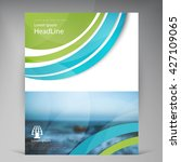 abstract vector modern flyers... | Shutterstock .eps vector #427109065
