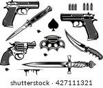 guns  pistol and revolver... | Shutterstock .eps vector #427111321