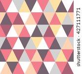 seamless triangle colorful... | Shutterstock .eps vector #427111771