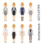 set of businesswoman characters.... | Shutterstock .eps vector #427119799