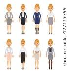 set of businesswoman characters....   Shutterstock .eps vector #427119799