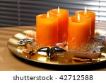advent wreath with four lit... | Shutterstock . vector #42712588