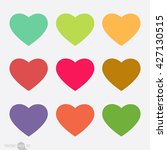 valentine hearts | Shutterstock .eps vector #427130515