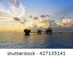 oil rig or production platform... | Shutterstock . vector #427135141