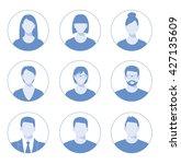 avatar profile icon set... | Shutterstock . vector #427135609