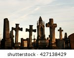 Old Stone Tombs On Graves On...