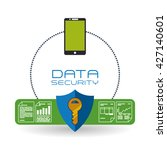 data security design. protect... | Shutterstock .eps vector #427140601