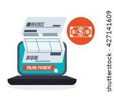invoice design. online payment. ...   Shutterstock .eps vector #427141609