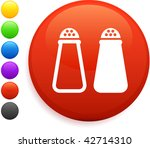 salt and pepper icon on round... | Shutterstock .eps vector #42714310