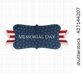 memorial day textile label and... | Shutterstock .eps vector #427144207