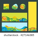 travel   vacation   banners and ... | Shutterstock .eps vector #427146385