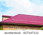 metal roofing with roof... | Shutterstock . vector #427147111