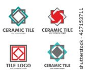 set of logos of ceramic tiles | Shutterstock .eps vector #427153711