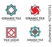 set of logos of ceramic tiles | Shutterstock .eps vector #427153711