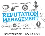 reputation management. chart... | Shutterstock .eps vector #427154791