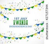 vector illustration of rwanda... | Shutterstock .eps vector #427157344