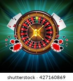 casino gambling background with ... | Shutterstock .eps vector #427160869