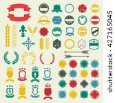emblem and labels set.... | Shutterstock . vector #427165045