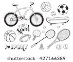 collection of vector sport... | Shutterstock .eps vector #427166389