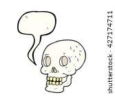 freehand drawn speech bubble... | Shutterstock .eps vector #427174711