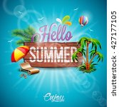 vector hello summer holiday... | Shutterstock .eps vector #427177105
