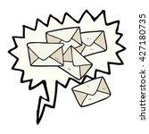 freehand drawn speech bubble... | Shutterstock .eps vector #427180735
