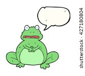 freehand drawn speech bubble... | Shutterstock .eps vector #427180804