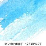 watercolor blue white strokes... | Shutterstock . vector #427184179