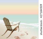 vintage beautiful sunset...   Shutterstock .eps vector #427184509