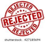 rejected. stamp | Shutterstock .eps vector #427185694