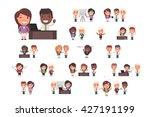business people vector set | Shutterstock .eps vector #427191199