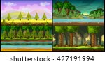 forest game backgrounds | Shutterstock .eps vector #427191994