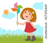 vector illustration of little... | Shutterstock .eps vector #427192669