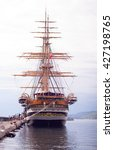 Small photo of TRIESTE, ITALY - MAY, 15: The Amerigo Vespucci is a tall ship of the Italy navy, named after the explorer Amerigo Vespucci on May 15, 2016